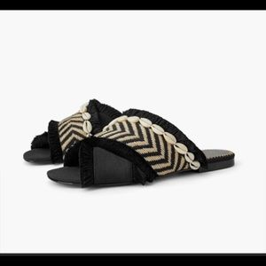 Zara seashell sandals